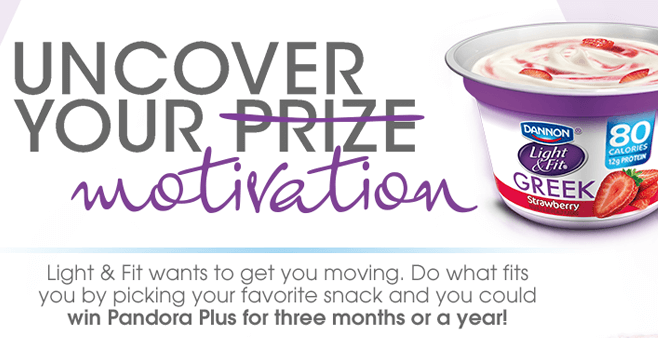 Dannon Light & Fit Sweepstakes (LightAndFitPromotion.com)