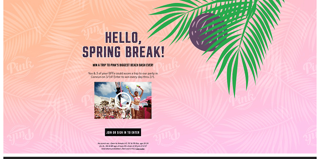 Victoria's Secret PINK Hello Sun Sweepstakes