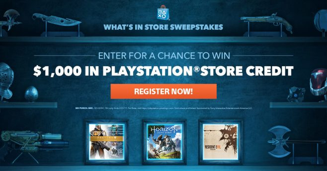 PlayStation Store What's In Store Sweepstakes