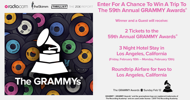 Radio.com Grammys Sweepstakes