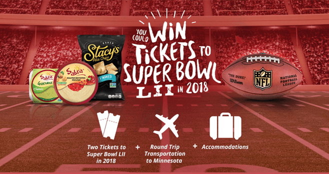Sabra Super Bowl Sweepstakes 2017 (Sabra.com/SuperBowl)