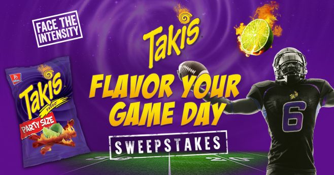 Flavor your Game Day with Takis Sweepstakes