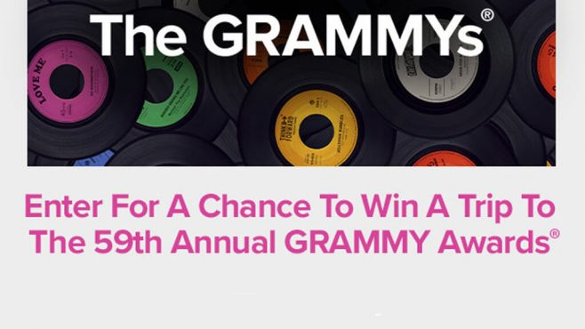 Radio.com 59th Annual GRAMMY Awards Sweepstakes