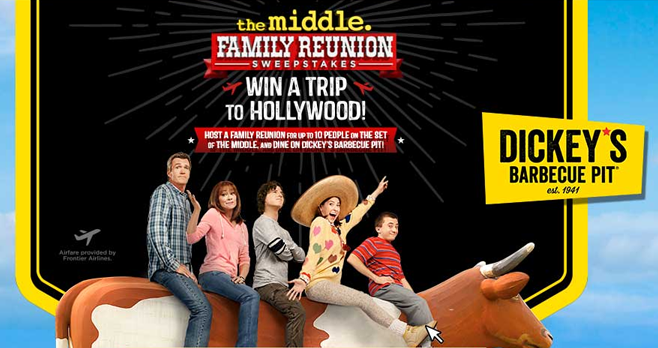 The Middle Family Reunion Sweepstakes (TheMiddleWeeknights.com)