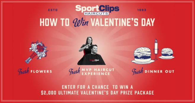 Sport Clips Valentine's Day Gameplan Sweepstakes