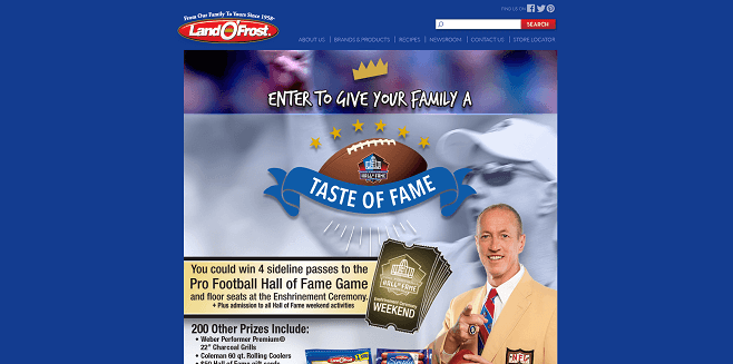 Land O'Frost Taste of Fame Sweepstakes