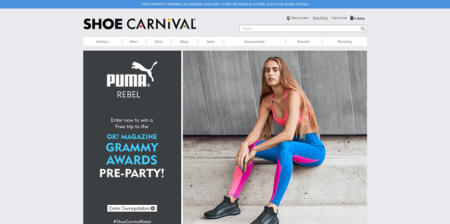 Shoe Carnival PUMA Rebel Sweepstakes