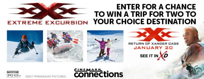 Cinemark XXX Extreme Excursions Sweepstakes
