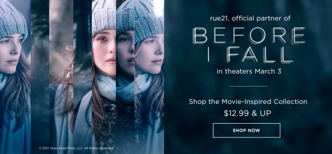 rue21 Before I Fall Sweepstakes