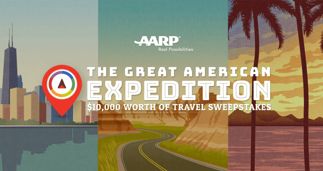AARP Great American Expedition $10,000 Worth of Travel Sweepstakes