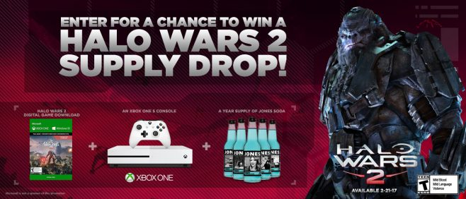 Jones Soda Halo Wars 2 Giveaway