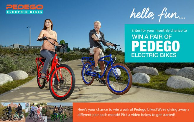 Pedego Electric Bikes Sweepstakes
