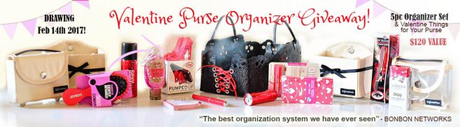 PursePacks Valentine Purse Organizer Set Gift Giveaway