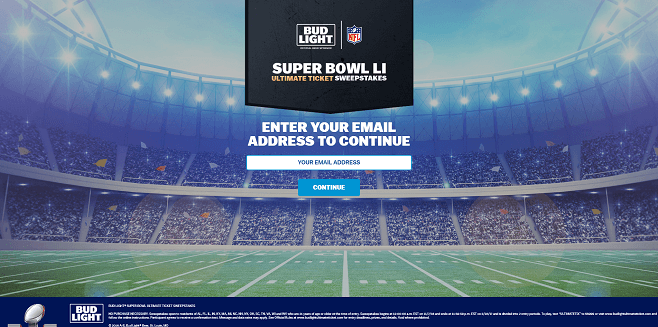 Bud Light Super Bowl LI Ultimate Ticket Sweepstakes