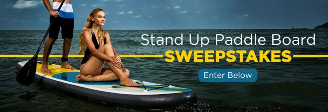Blue Water Toys Inflatable Stand Up Paddle Board Sweepstakes