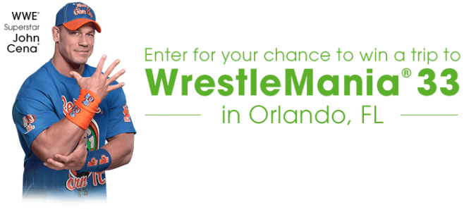 Cricket Wireless Trip To WrestleMania 33 Sweepstakes