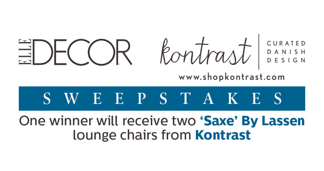 ELLE Decor Kontrast Sweepstakes (Kontrast.ElleDecor.com)