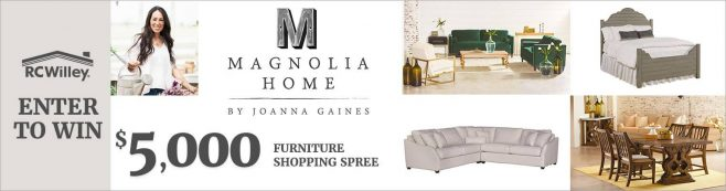 RC Willey Magnolia Shopping Spree Sweepstakes