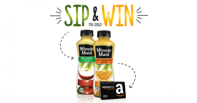 Minute Maid Juices to Go Instant Win
