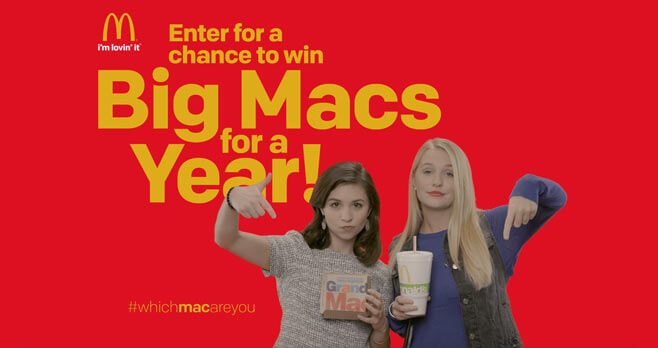 McDonald's Which Mac Are You Sweepstakes (WhichMacAreYou.com)