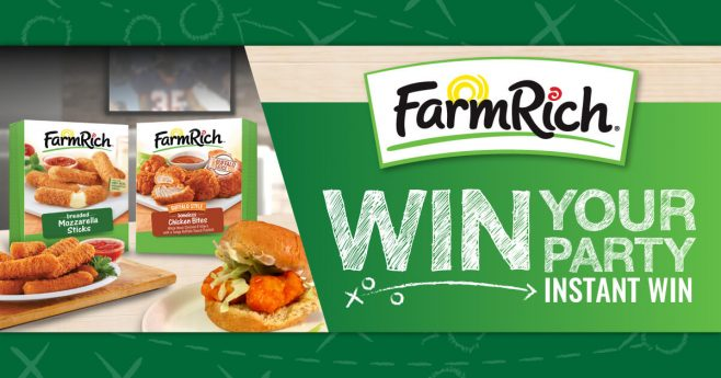 Farm Rich Win Your Party Instant Win and Sweepstakes
