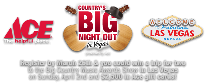 Ace Country's Big Night Out in Vegas Sweepstakes