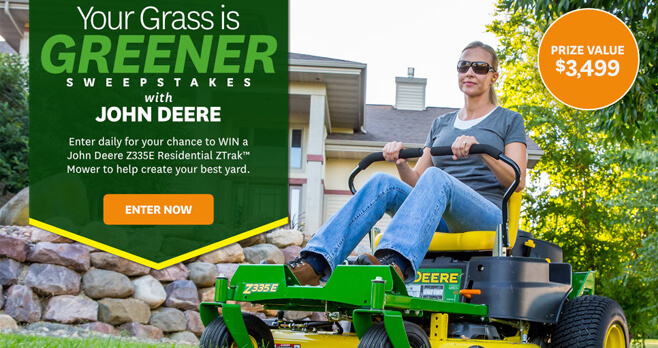 BHG Your Grass is Greener Sweepstakes Sweepstakes 2018 (BHG.com/DeereGiveaway)