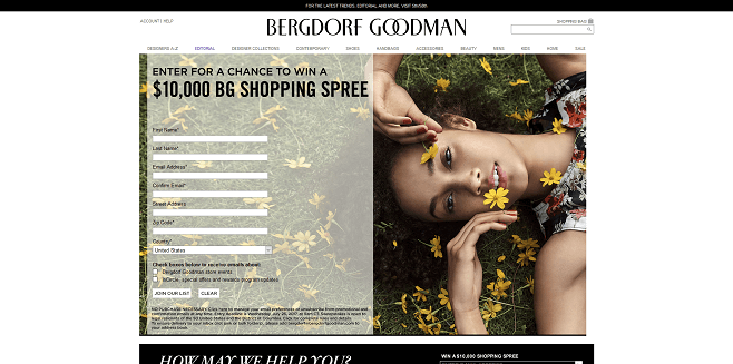 Bergdorf Goodman $10,000 Shopping Spree Sweepstakes