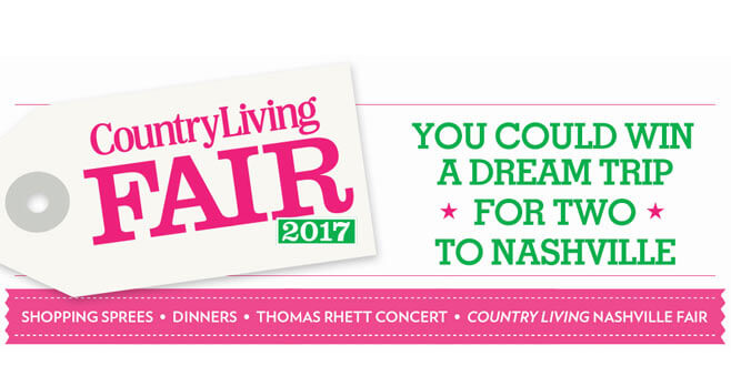 Country Living Nashville Sweepstakes 2017 (Nashville.CountryLiving.com)