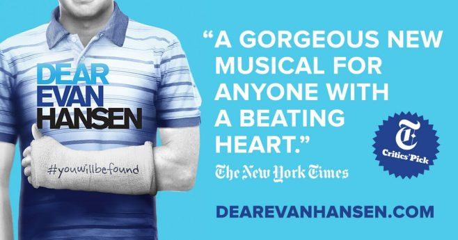 Dear Evan Hansen Sweepstakes