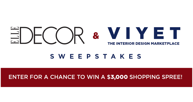 ELLE Decor Viyet Sweepstakes (Viyet.ElleDecor.com)