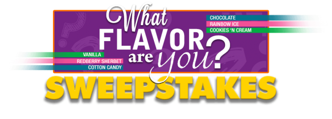 Dippin' Dots What Flavor Are You? Sweepstakes