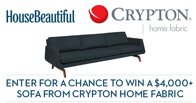 House Beautiful Crypton Home Fabric Sweepstakes (CryptonHome.HouseBeautiful.com)