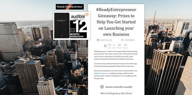 #ReadyEntrepreneur Giveaway