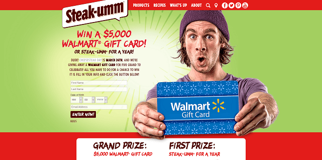 Steak-Umm Cheesesteak Day Sweepstakes