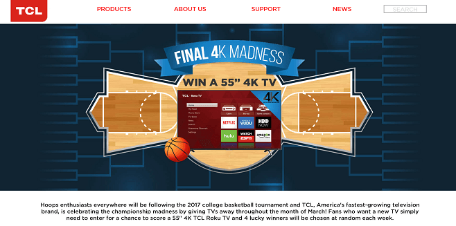 TCL Final 4K Madness Giveaway