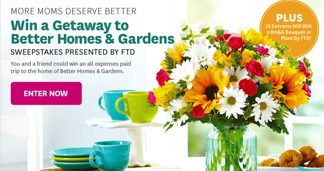 BHG More Moms Deserve Better Sweepstakes (BHG.com/MoreMoms)