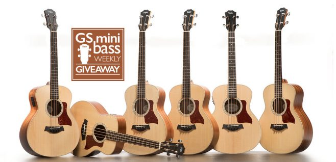 Taylor Guitars GS Mini Bass Weekly Giveaway