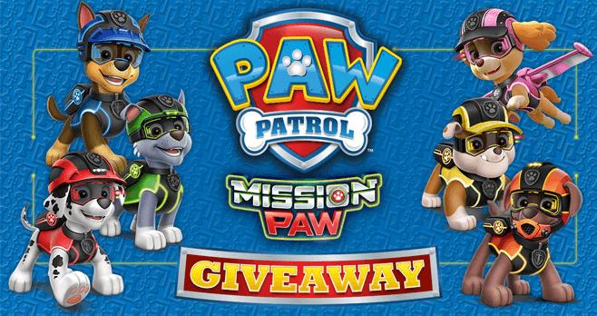 Paw Patrol Mission Paw Giveaway (MissionPaw.PawPatrol.com)