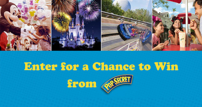 Pop Secret Disney Sweepstakes (PopSecret.com/Disney)