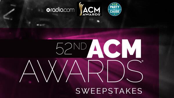 Radio.com 52nd ACM Awards Sweepstakes