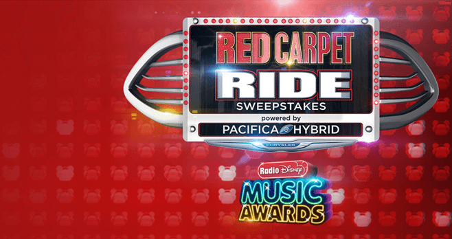 Radio Disney RDMA Red Carpet Ride Sweepstakes 2017