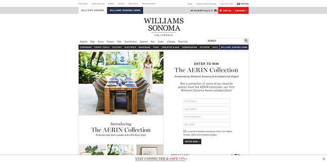 Williams-Sonoma AERIN Collection Sweepstakes