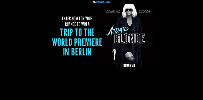 Fandango's Atomic Blonde Sweepstakes