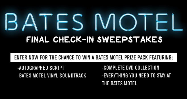 Bates Motel Final Check-In Sweepstakes