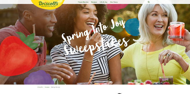 Driscoll's Spring into Joy Sweepstakes
