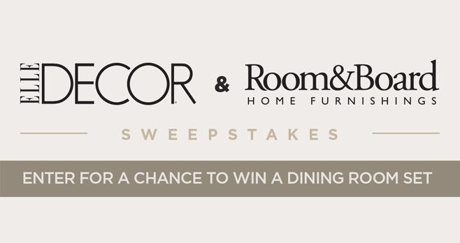 ELLE Decor Room And Board Sweepstakes (RoomAndBoard.ElleDecor.com)