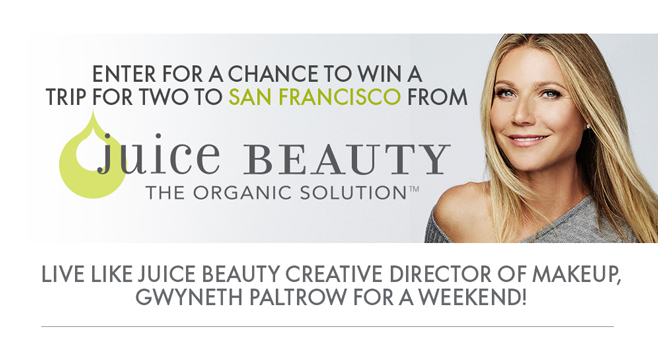 ELLE Juice Beauty Sweepstakes (JuiceBeauty.Elle.com)