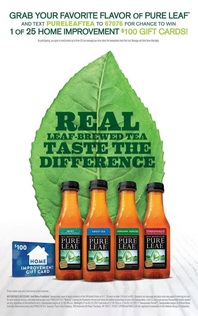 2017 Lipton Pure Leaf Tea Sweepstakes