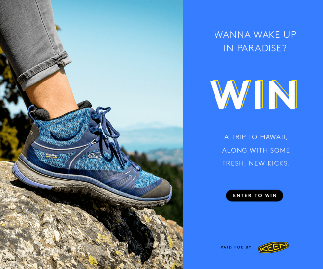 Refinery29 + Keen TrailFit Sweepstakes